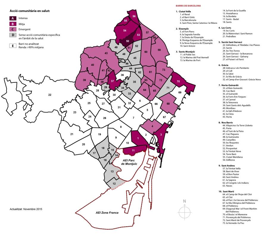 L'acció comunitària en salut a Barcelona http://salutcomunitaria.com/mapes-de-salut/