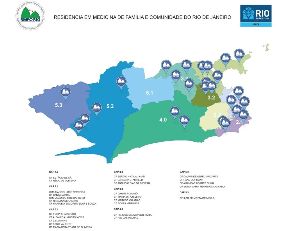 Unidades con Residencia de Medicina Familiar y Comunitaria en Río de Janeiro http://www.rmfcrio.org/