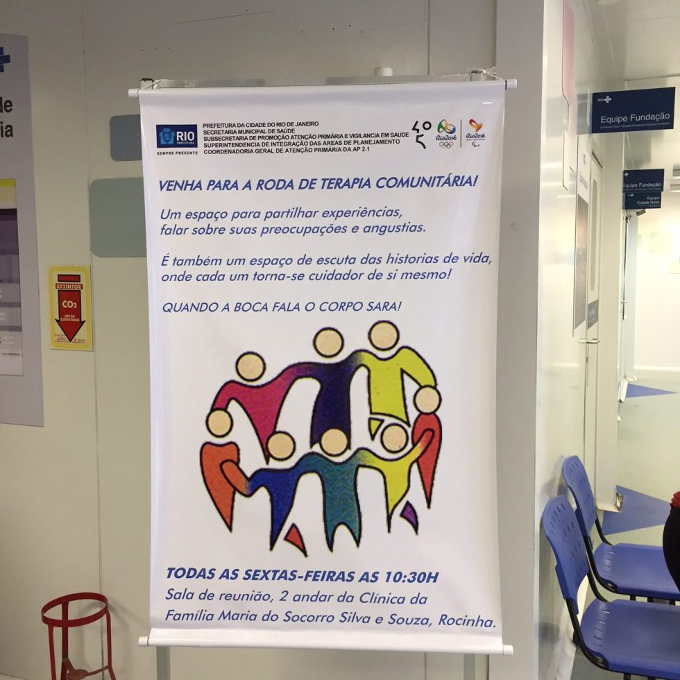Información de Terapia Comunitaria en un Centro de Salud en la Rocinha (Río de Janeiro)